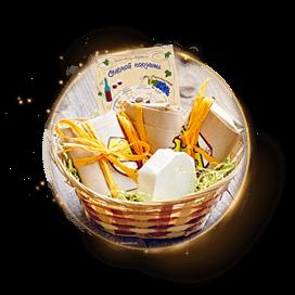 Подарочная корзина сыров